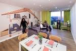 St Pancras en-suite duplex living area