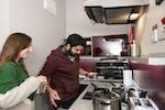 En-suite Gold Kitchen