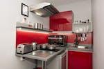 All en-suite studios kitchen