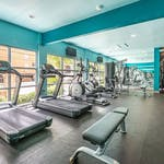 FITNESS CENTER 3 VILLAS ON GUADALUPE STUDENT APARTMENTS AUSTIN TX