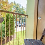 BALCONY PORCH VIEW VILLAS ON GUADALUPE STUDENT APARTMENTS AUSTIN TX